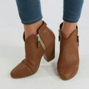 RAG & BONE Brown Perforated Leather Ankle boots